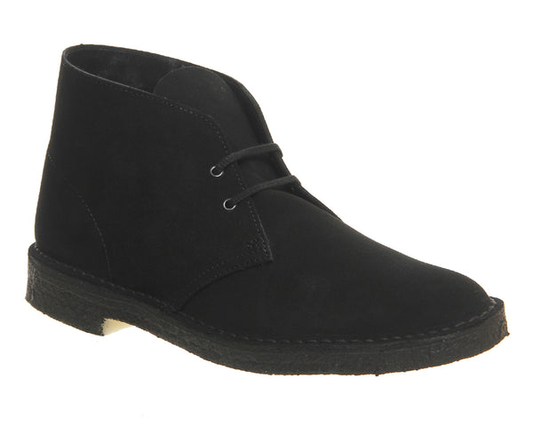 Mens Clarks Desert Boot Black Suede