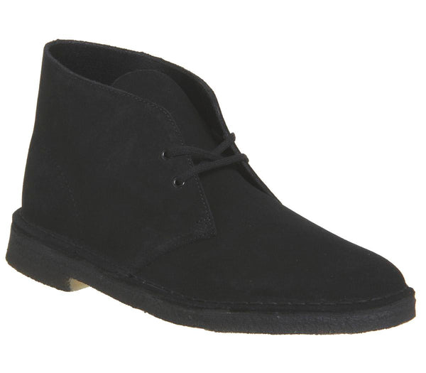 Mens Clarks Desert Boot Black Suede New Uk Size 7