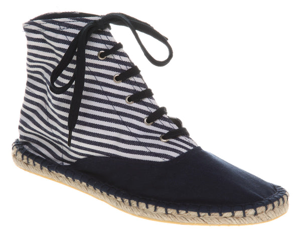 Womens Office Kitty Espadrille NavyWhite Stripe