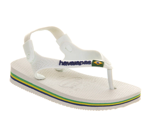 Kids Havaianas Flip Flops Baby Brazil White - OFFCUTS SHOES by OFFICE