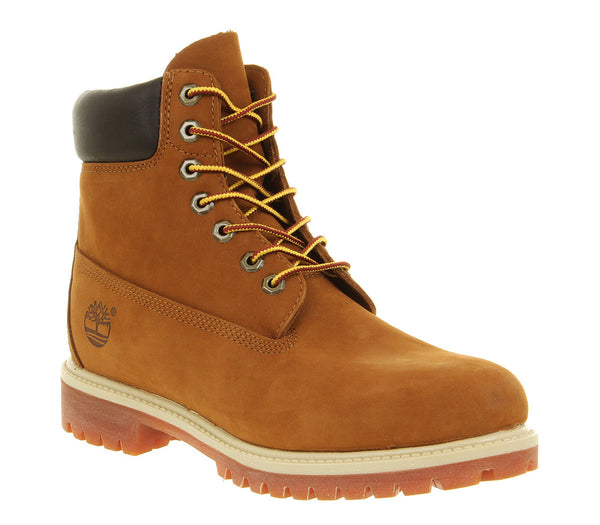 Mens Timberland 6 In Buck Boots Rust Nubuck