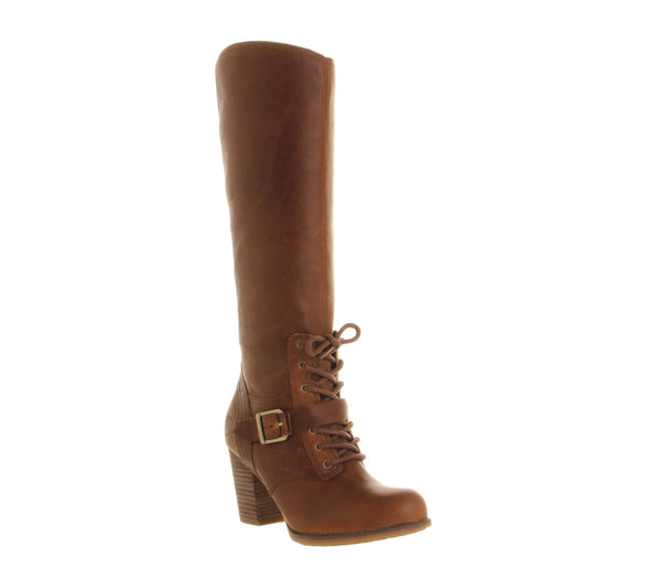 Womens Timberland Ek Trenton Tall Side Zip Tobacco Forty Leather