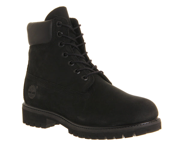 Mens Timberland 6 In Buck Boots Black Nubuck