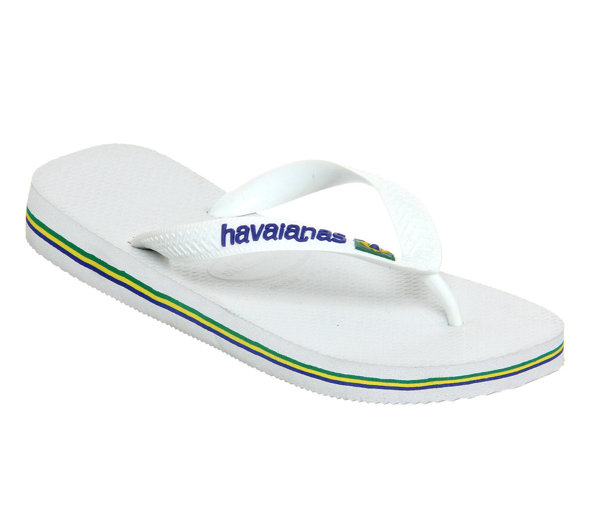 e2682ab91 Mens Havaianas Brasil Logo Flip Flops White – OFFCUTS SHOES by OFFICE