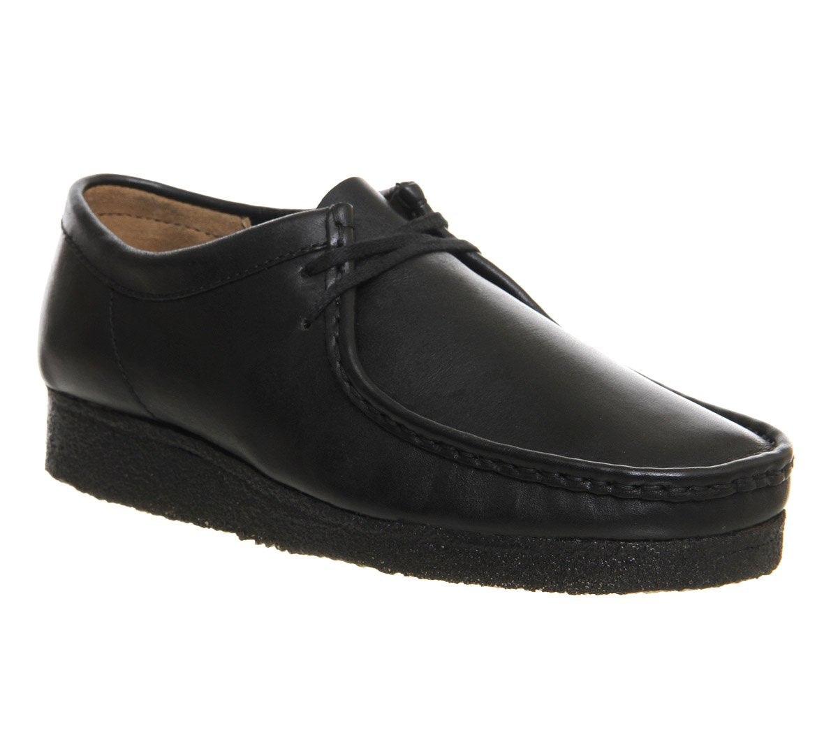 Womens Clarks Wallabee Black Leather