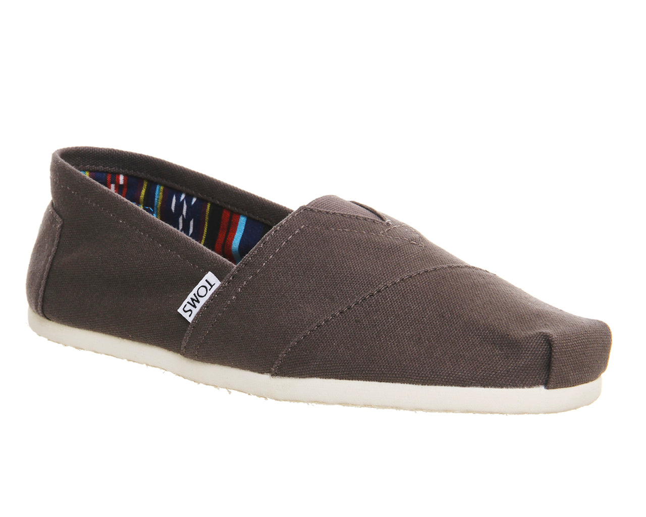 c0900f91525 Mens Toms Classic Slip Ons Ash Canvas – OFFCUTS SHOES by OFFICE