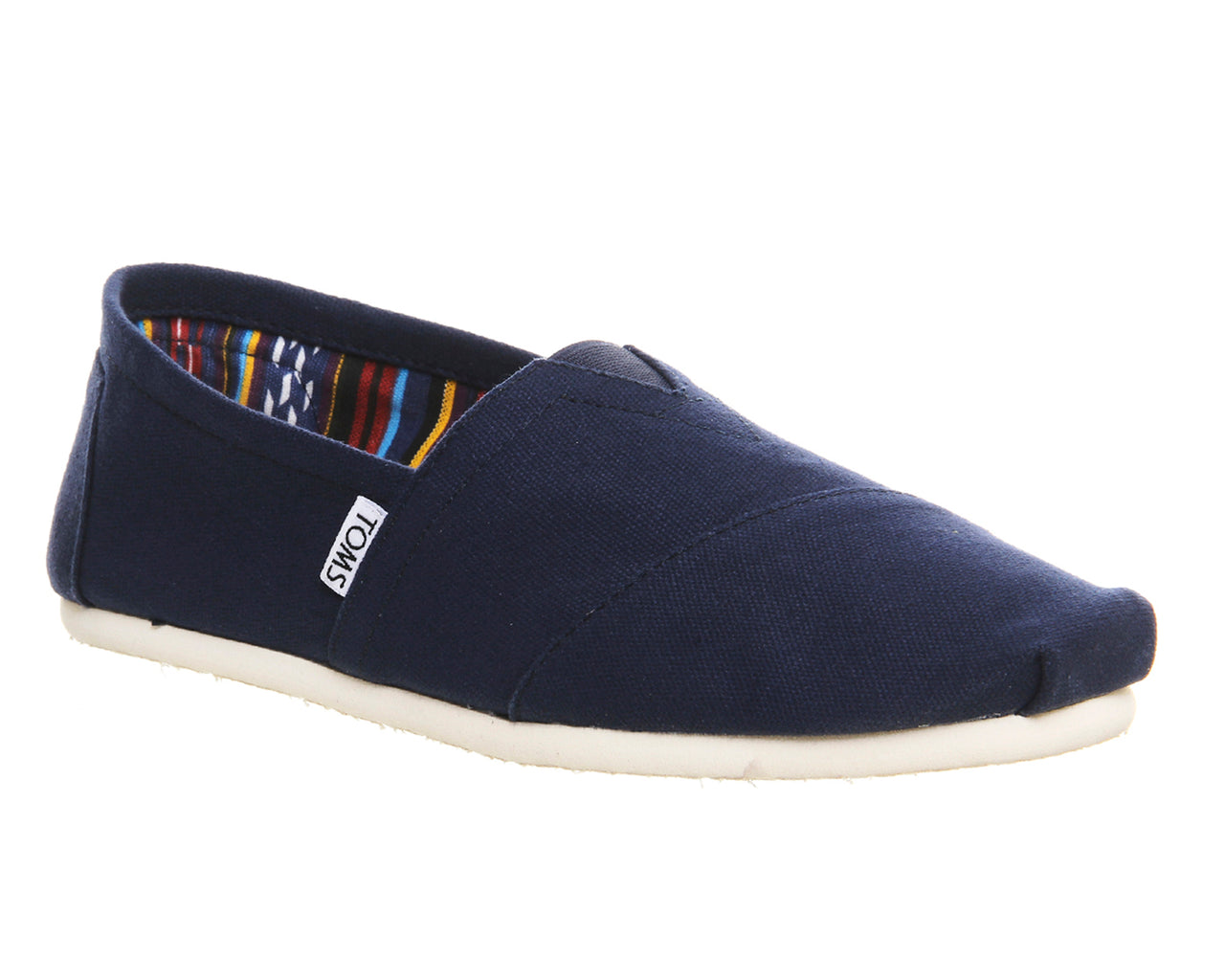 Mens Toms Classic Slip Ons Navy Canvas