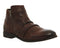 Mens Ask the Missus Blame Game Zip Boots Brown Washed Leather