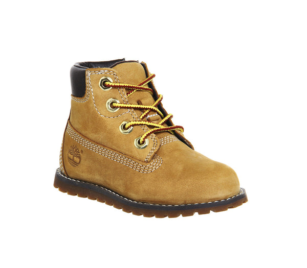 Kids Timberland Pokey Pine 6 Inch Boots Wheat - OFFCUTS SHOES by OFFICE