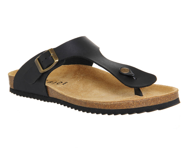 Mens Office Delhi Toepost Sandals Black
