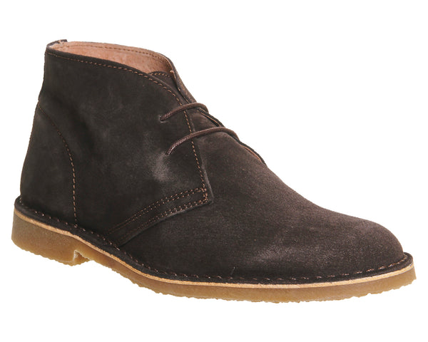 Mens Office Fahrenheit Desert Boots Chocolate Suede