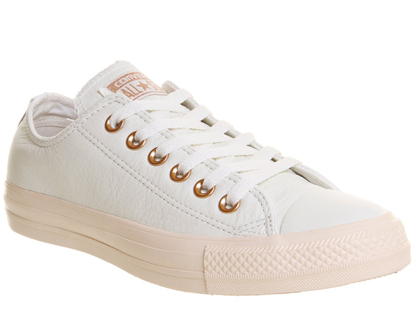 Unisex Converse All Star Low Leather Pastel Rose Egret Blush Gold Exclusive