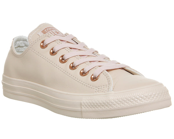Unisex Converse All Star Low Leather Pastel Rose Tan Rose Gold