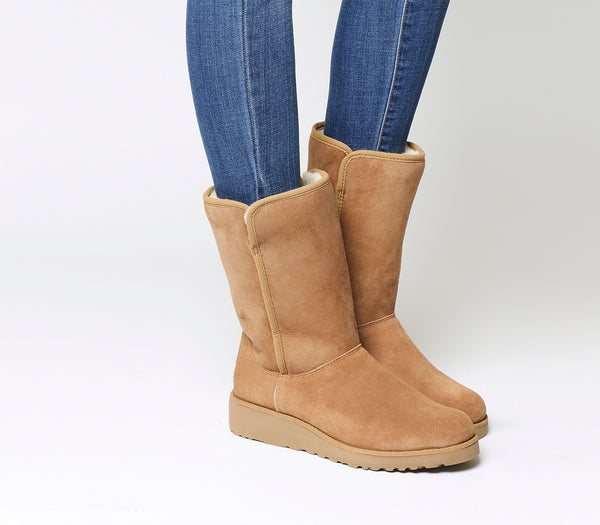 Womens Ugg Classic Amie Slim Short Chestnut Suede Boots