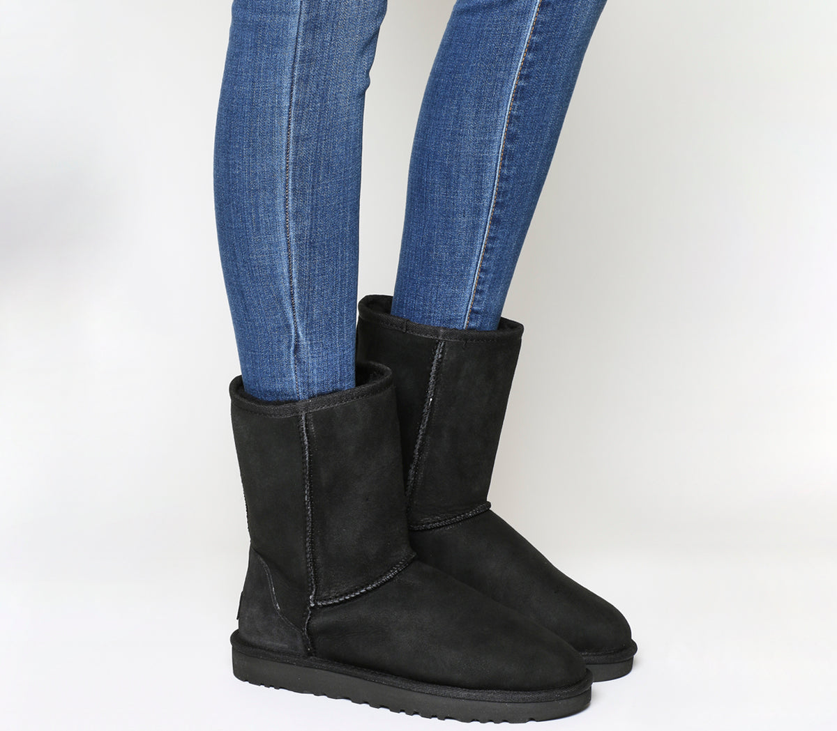 Womens Ugg Classic Short II Boots Black Suede