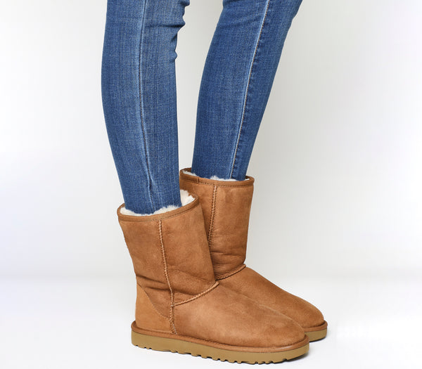 Womens UGG Classic Short II Boots Chestnut Suede