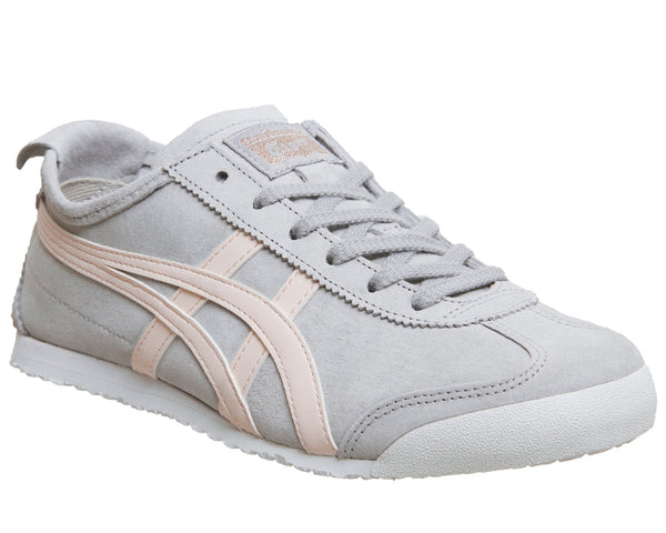 Womens Onitsuka Tiger Mexico 66 Trainers Grey Pink Suede