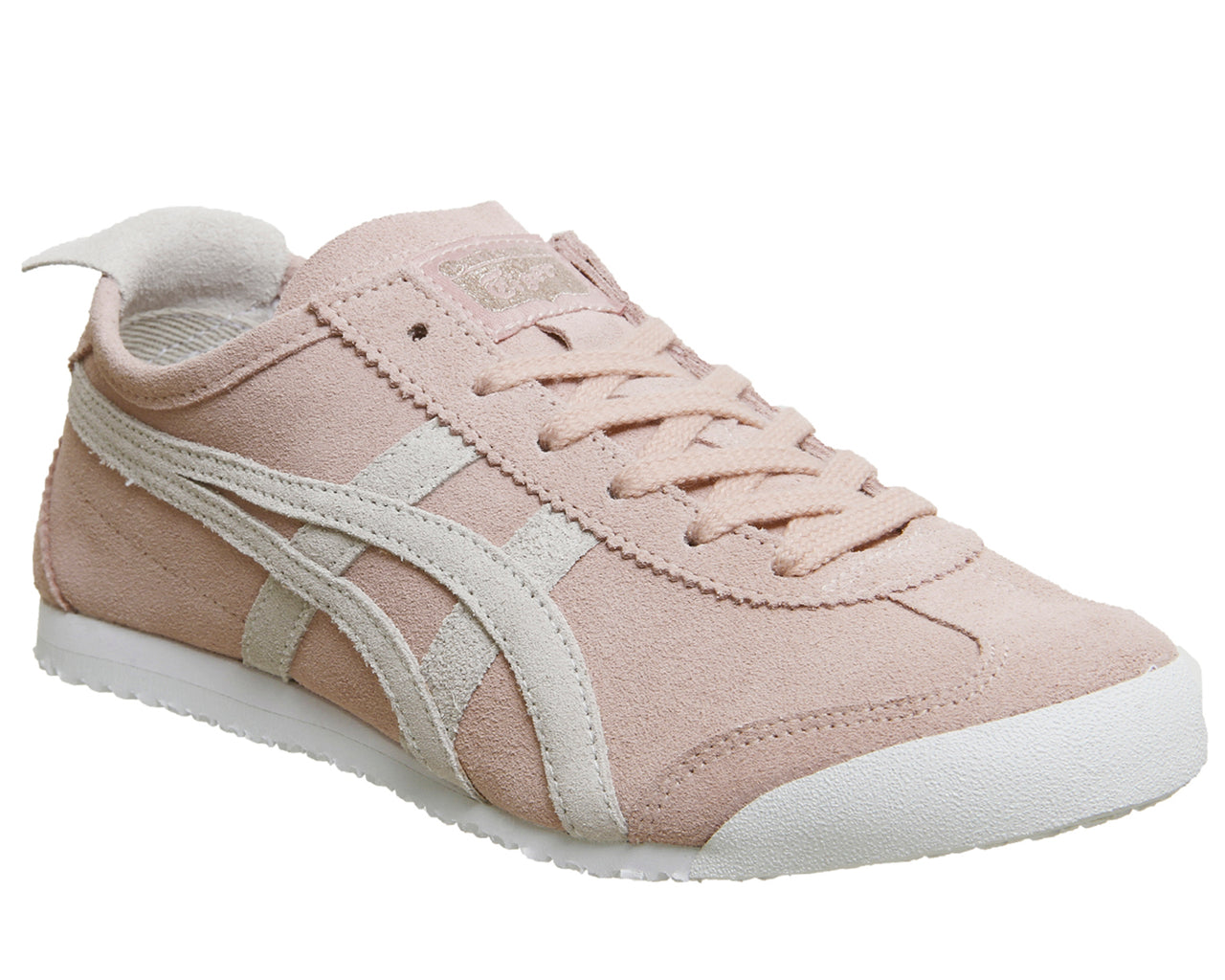 reputable site b45a5 33ab9 Womens Onitsuka Tiger Mexico 66 Trainers Pink Grey Suede
