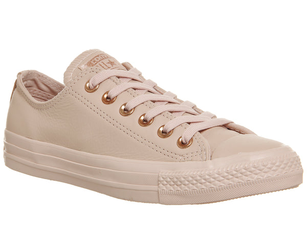 Womens Converse All Star Low Leather Dusk Pink Rose Gold