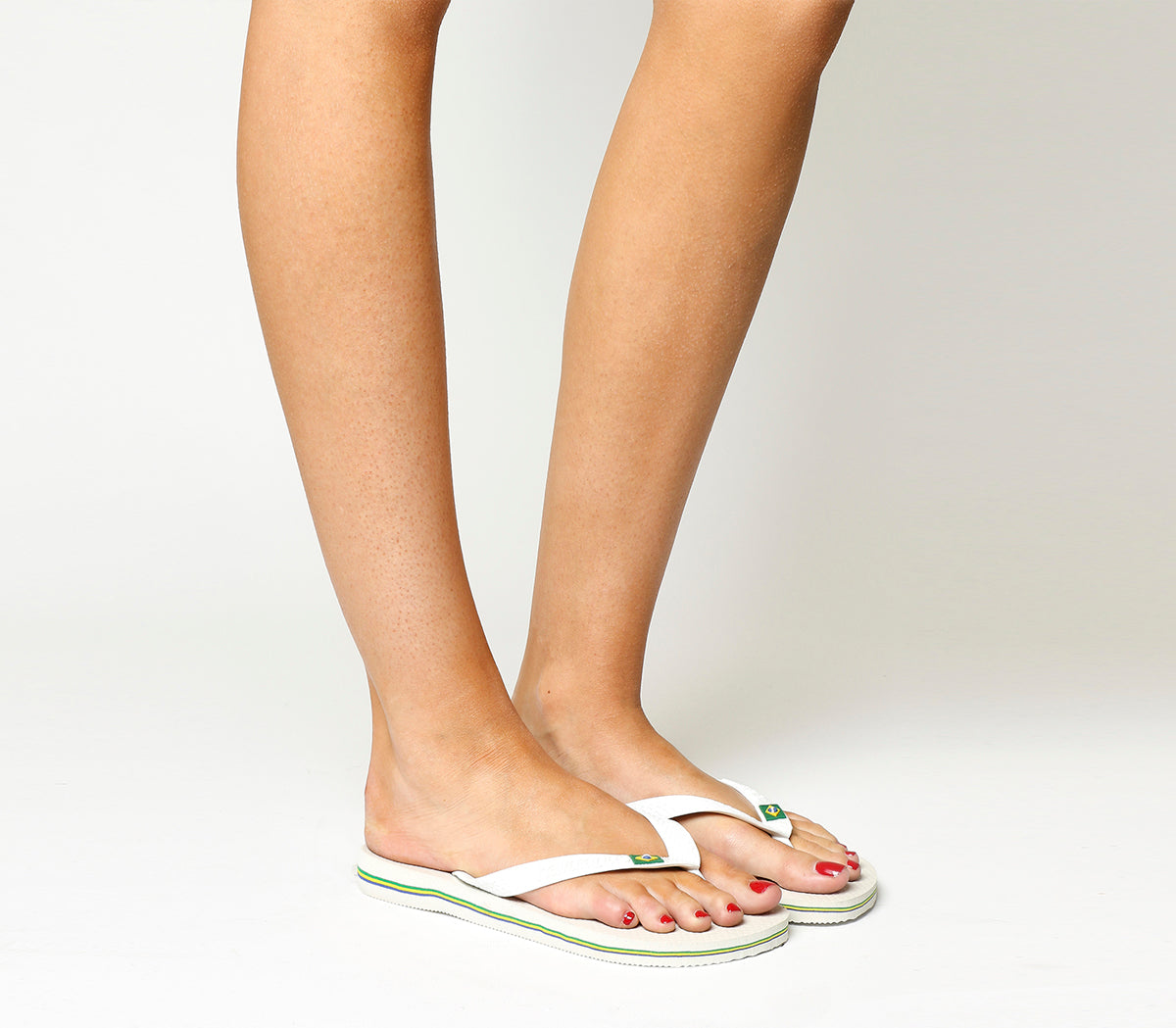 6133da201 Womens Havaianas Brazil Flip-flop White Rubber – OFFCUTS SHOES by OFFICE