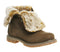 Womens Timberland Fur Fold Down Boots Canten Nubuck Burnished