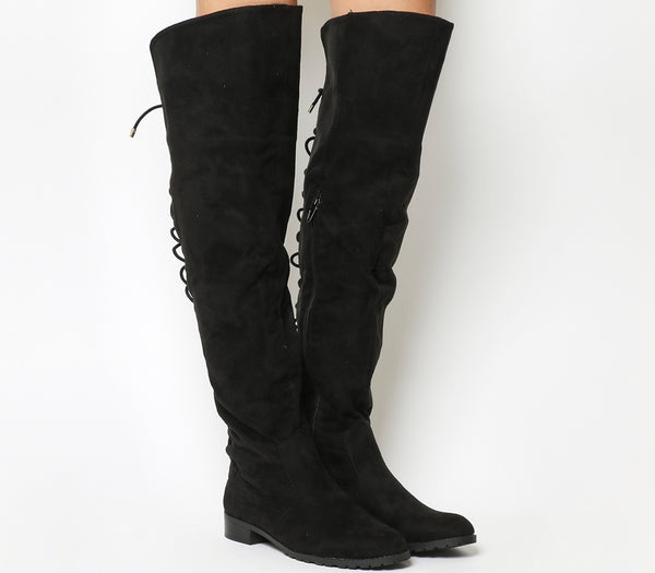 Womens Office Black Knockout Over The Knee Boots