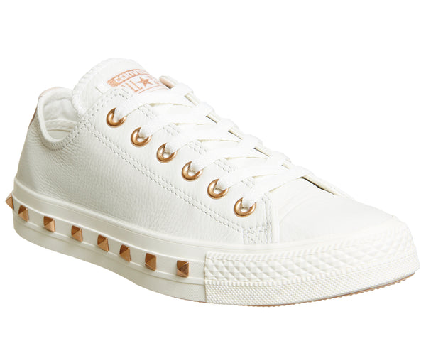 21ac4c8806c51 Unisex Converse All Star Low Leather Stud Egret Particle Beige Blush  Exclusive