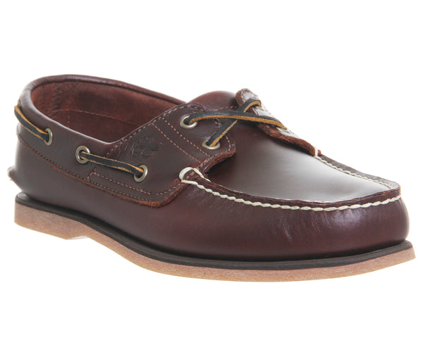 Mens Timberland New Boat Shoes Root Beer Leather