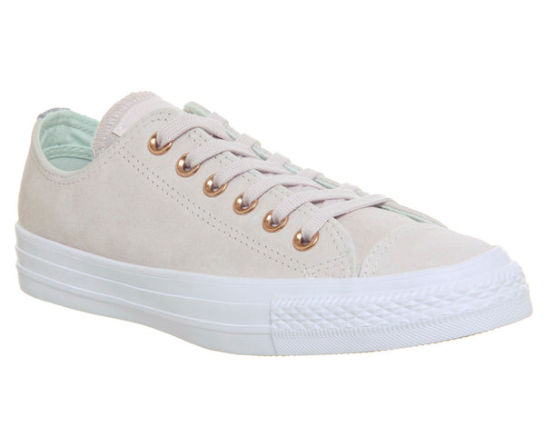 Unisex Converse Allstar Low Leather Pale Quartz Glacier Grey White