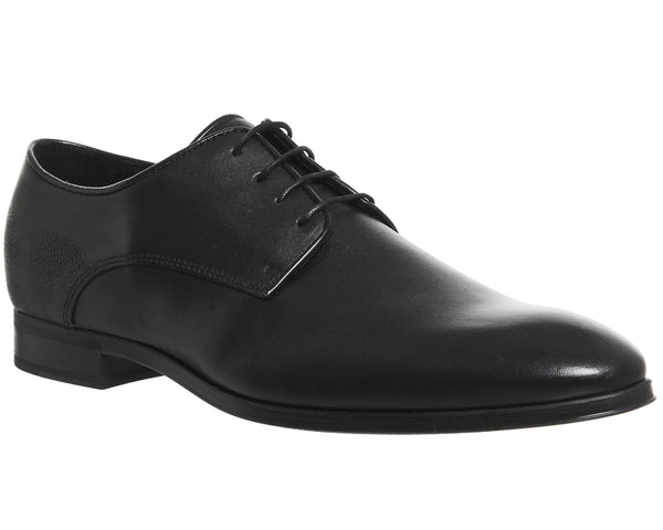 Mens Ask the Missus Grace Plain Toe Shoes Black Leather