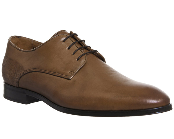 Mens Ask the Missus Grace Plain Toe Shoes Tan Leather