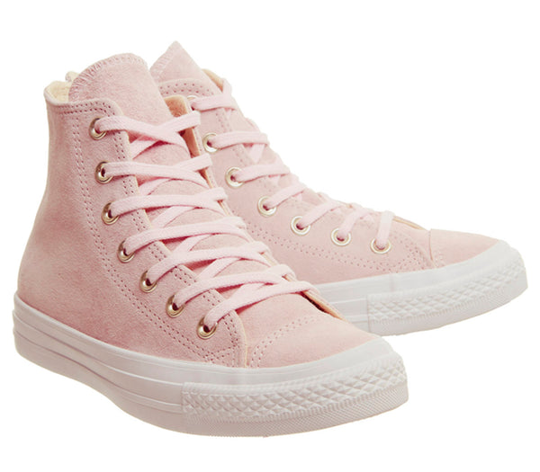 Womens Converse All Star Hi Leather Trainers Potpourri Light Twine White Exclusive