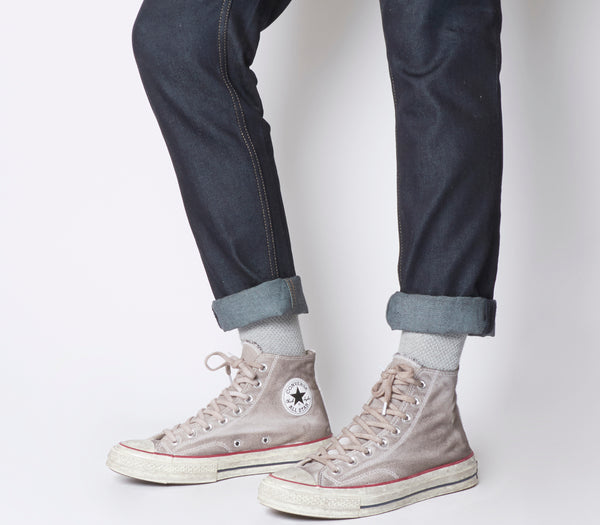 16c13334531 Unisex Converse All Star Hi 70s Trainers Wine Grey Dyed Worn Look
