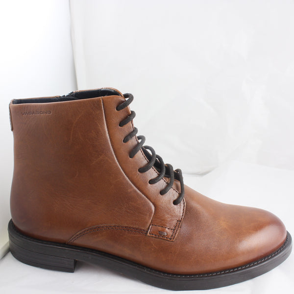 Womans Vagabond Lace Up Brown Ankle Boots Size 4