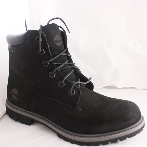 Womans Timberland Waterville Black Grey Boots Size 6.5