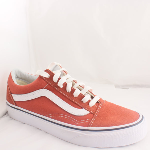 Womens Vans Old Skool Lace Up Burnt Orange Trainers UK Size 4