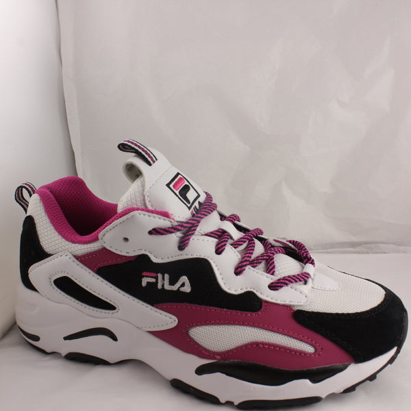 Womans Fila Ray Tracer White Pink Black Trainers Size 5