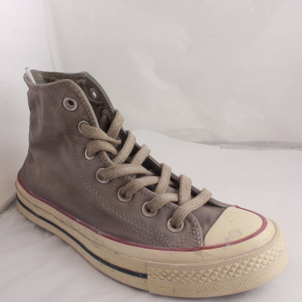 Womens Converse All Star Hi Grey Wine Worn Look Trainers UK Size 8