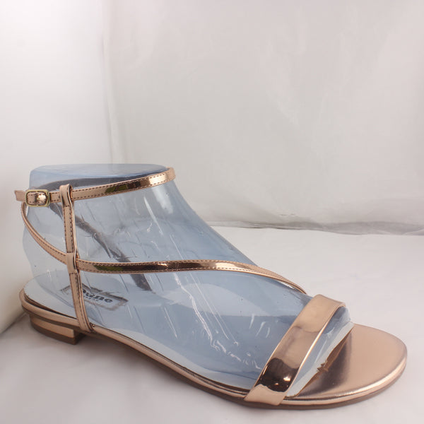 Womens Dune London 638 Miss Rose Gold Metallic Sandals UK Size 7