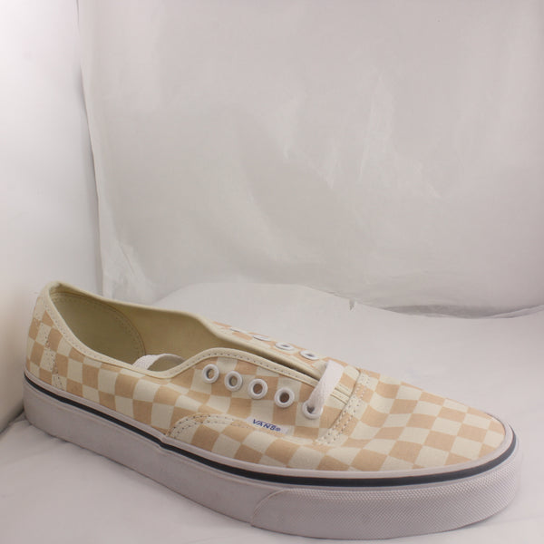 Womens Vans Authentic Apricot True White Checkerboard Trainers Uk Size 8