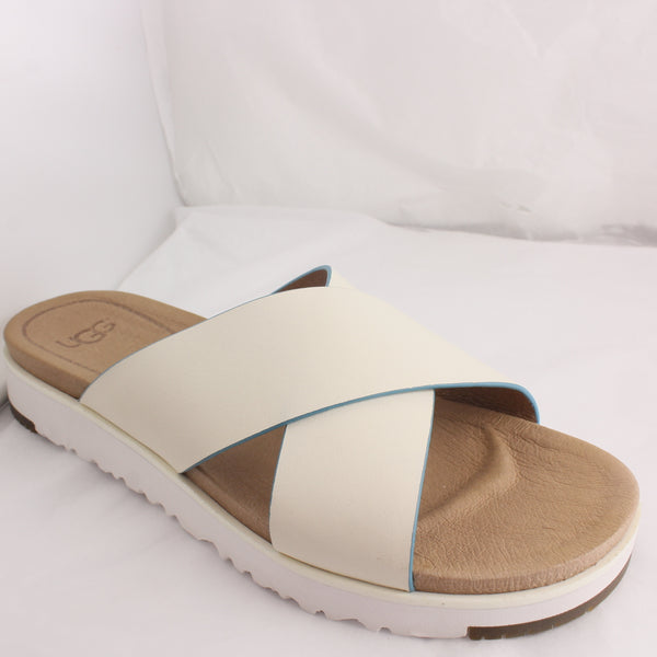 Womans Ugg Kari Off White Sandals Size 3.5