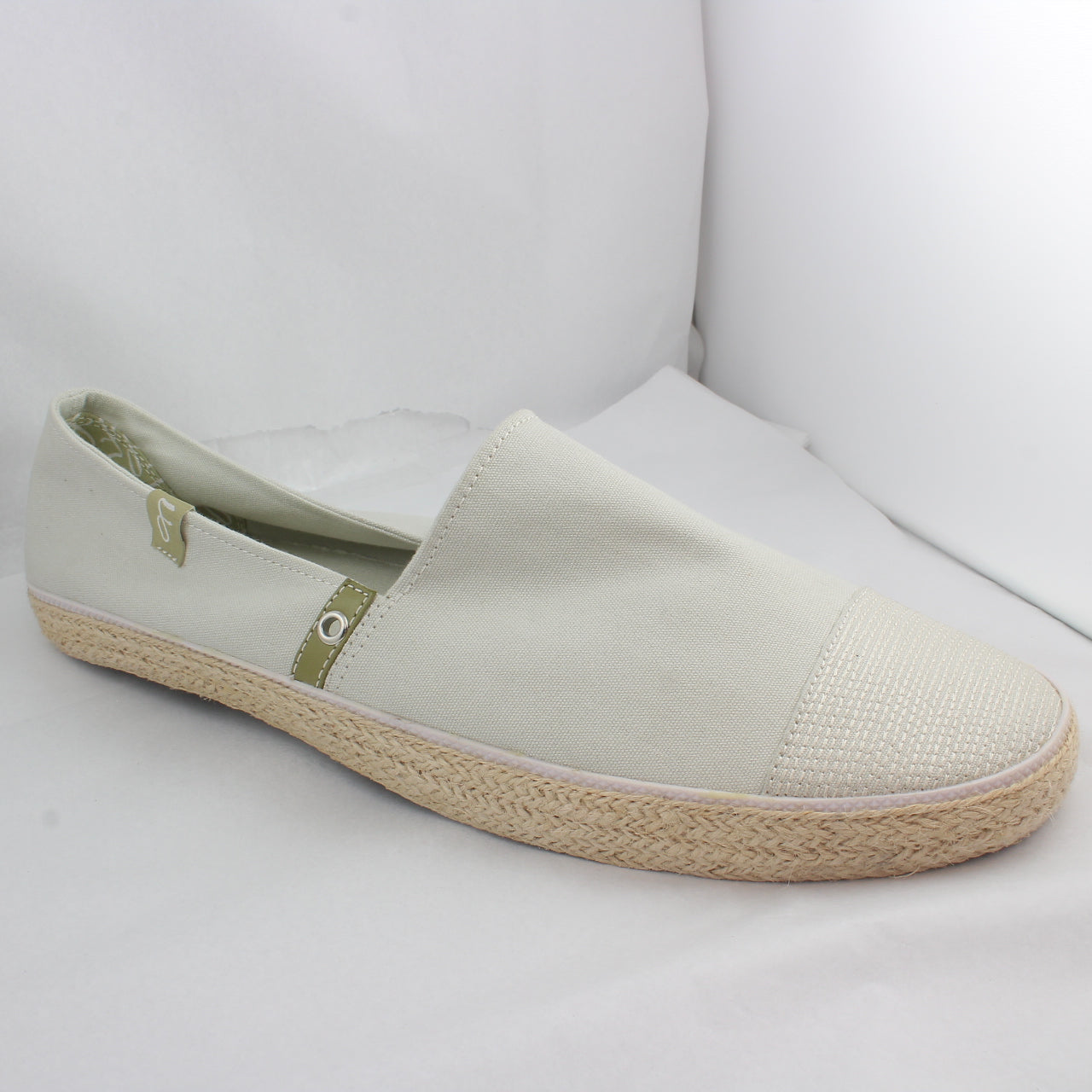 Mens Fin's Finspadrilles Pale Grey Canvas