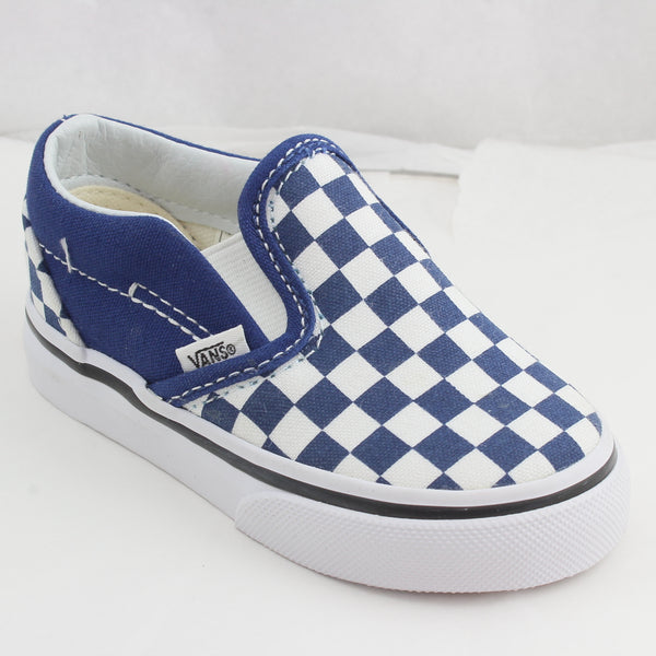 Kids Vans Classic Slip On Toddlers BlueBlack Check