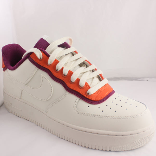 Womens Nike Air Force 1 07 Se Sail Team Orange True Berry Trainers UK Size 8