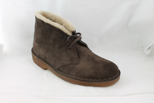 Womens Clarks Desert Hug Boot Brown Suede