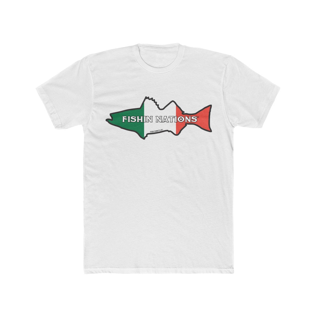 FISHIN NATIONS ITALY Men's Cotton Crew Tee