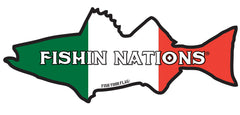 ITALY FISHIN NATIONS sticker