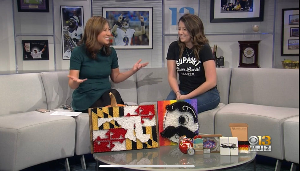 Stephanie Strings & Makers of Maryland on WJZ Baltimore