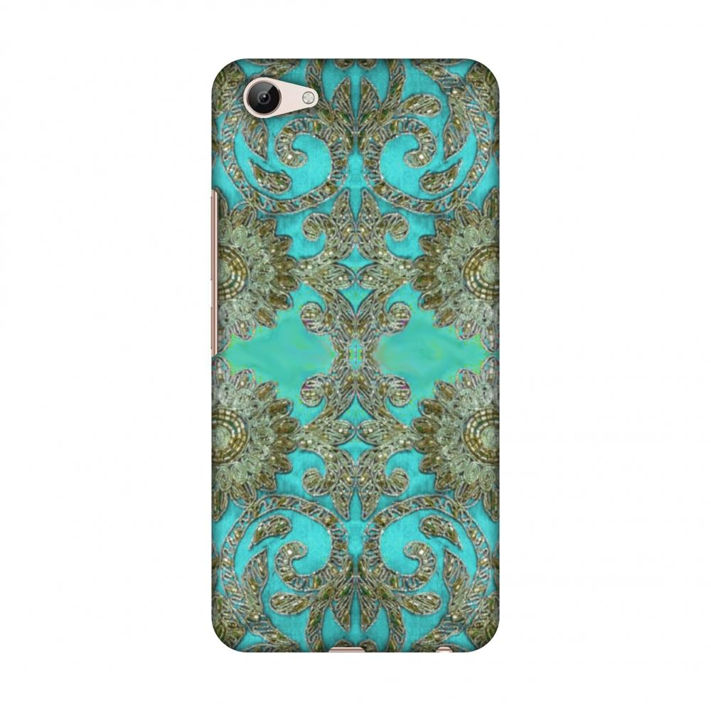Beads And Threadwork - Aquamarine And Gold Slim Hard Shell Case For
