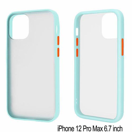 Slim Matte Hybrid Bumper Case for iPhone 12 Pro Max 6.7 inch (Light